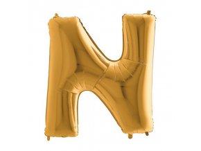 332G Letter N Gold
