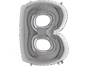 Balonek stribrny pismeno B 71WSILVERB
