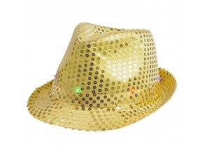 kapelusz swiecacy zloty cekin
