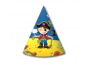 czapeczki papierowe pirat 6 szt