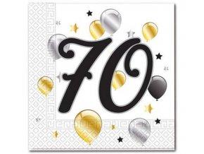 serwetki 70 urodziny balloons rozm 33x33 cm 20