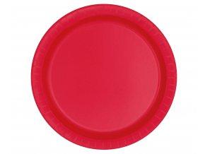 talerzyki papierowe czerwone 23 cm 8 szt
