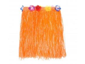 spodnica hawajska pomaranczowa