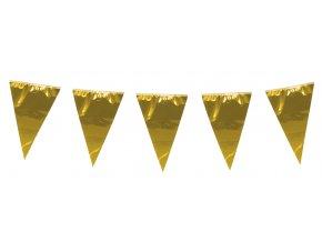 Girlanda vlaječková zlatá