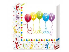 serwetki happy birthday streamers 33x33 cm 20