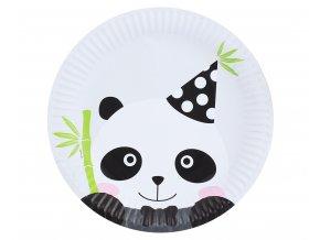 talerzyki papierowe panda 23 cm 6 szt