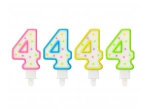 swieczka cyfra 4