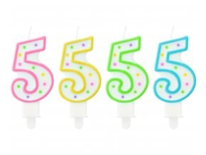 swieczka cyfra 5