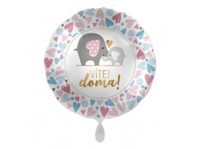 balon foliowy 18 ql cir welcome home pennents
