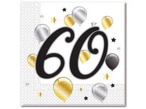 serwetki 60 urodziny balloons rozm 33x33 cm 20