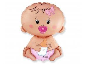 balon foliowy 24 fx bobas dziewczynka