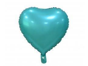 balon foliowy serce matowe turkusowe 18