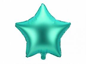 balon foliowy gwiazda matowa zielona 18