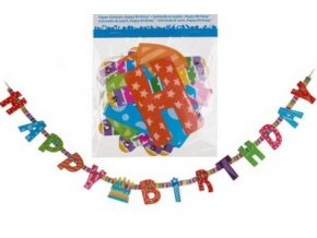 papier girlande happy birthday l ca 1 55 m 18193