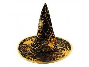 kapelusz czarownicy ze zlota pajeczyna