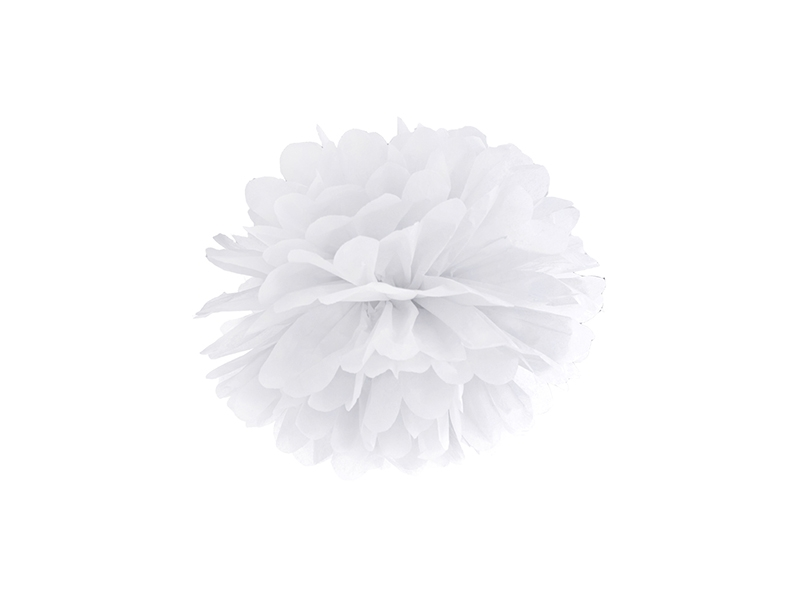 Pompom dekorační bílý