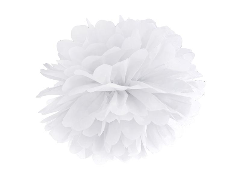 Pompom dekorační bílý 35 cm