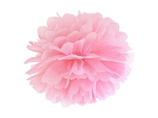 Pompom dekorační růžový 35 cm