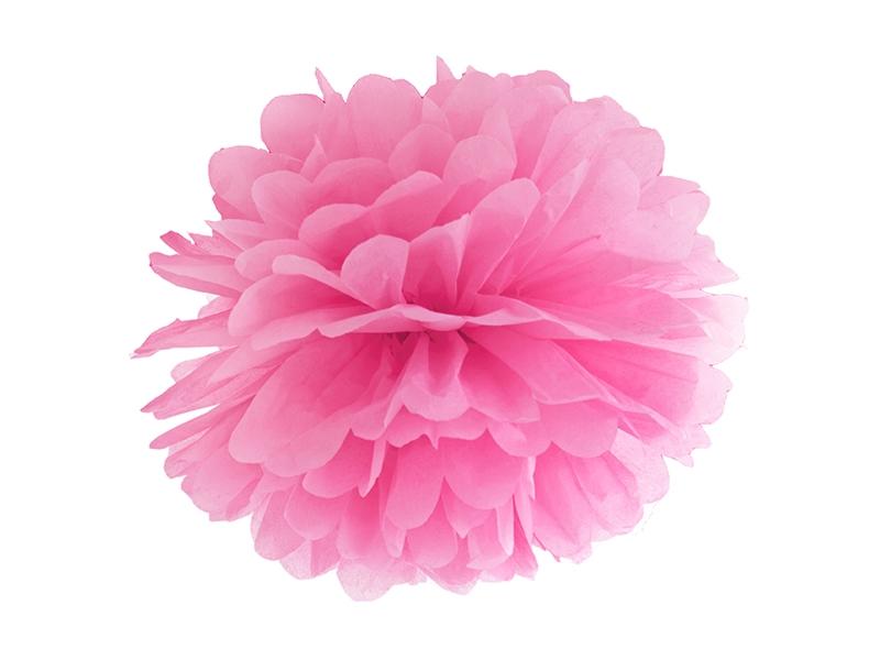 Pompom dekorační sytě růžový 35 cm