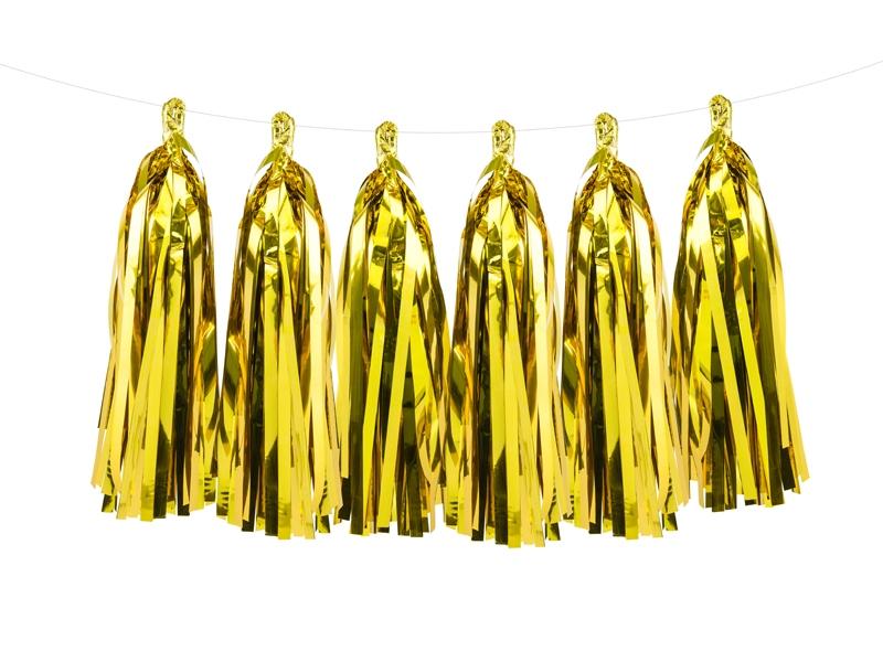 Girlanda party s zlatými třásněmi