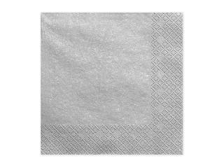 Ubrousky papírové stříbrné