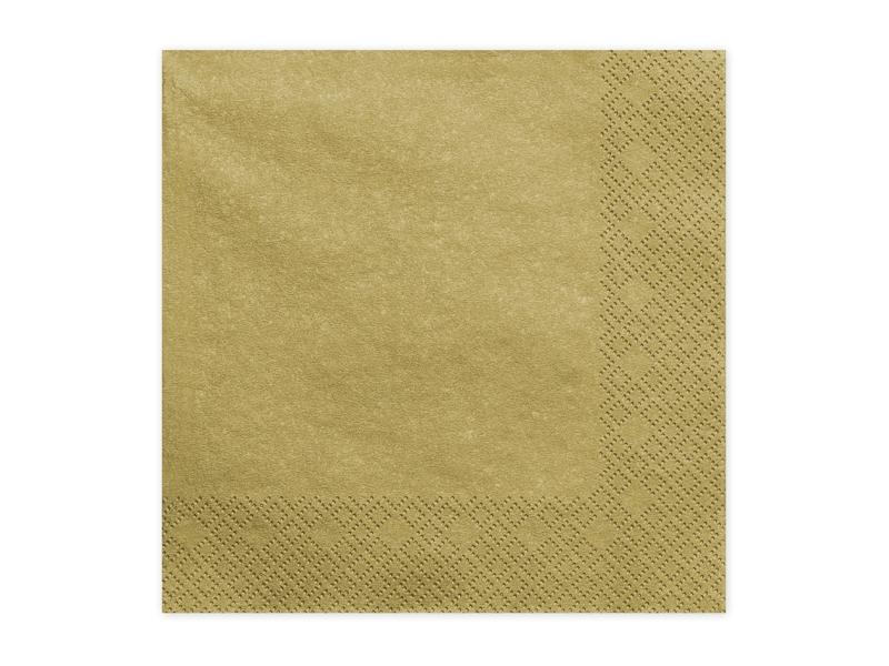 Ubrousky papírové zlaté