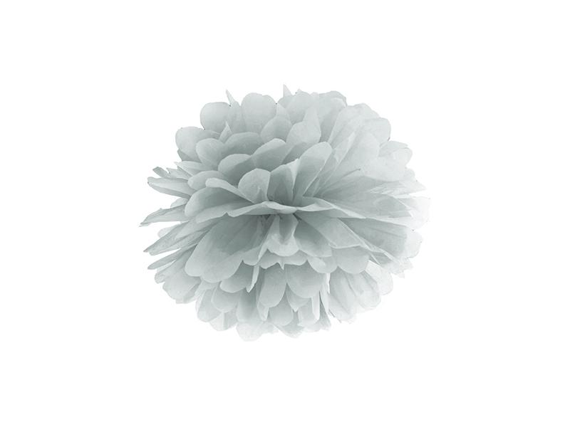 Pompom dekorační stříbrný