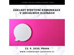 Akreditované kurzy MPSV 2020 Základy efektivní komunikace Praha