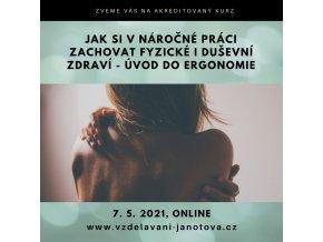 Akreditované kurzy MPSV online 2021 - úvod do ergonomie