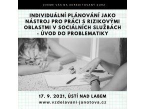 Akreditovaný kurz MPSV Individuální plánování září 2021 Ústí nad Labem