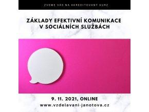 Akreditovaný kurz Základy efektivní komunikace Online listopad 2021