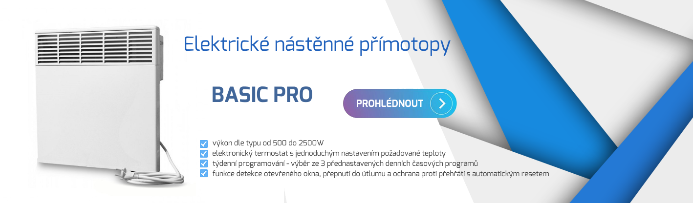 Elektrické přímotopy BASIC PRO