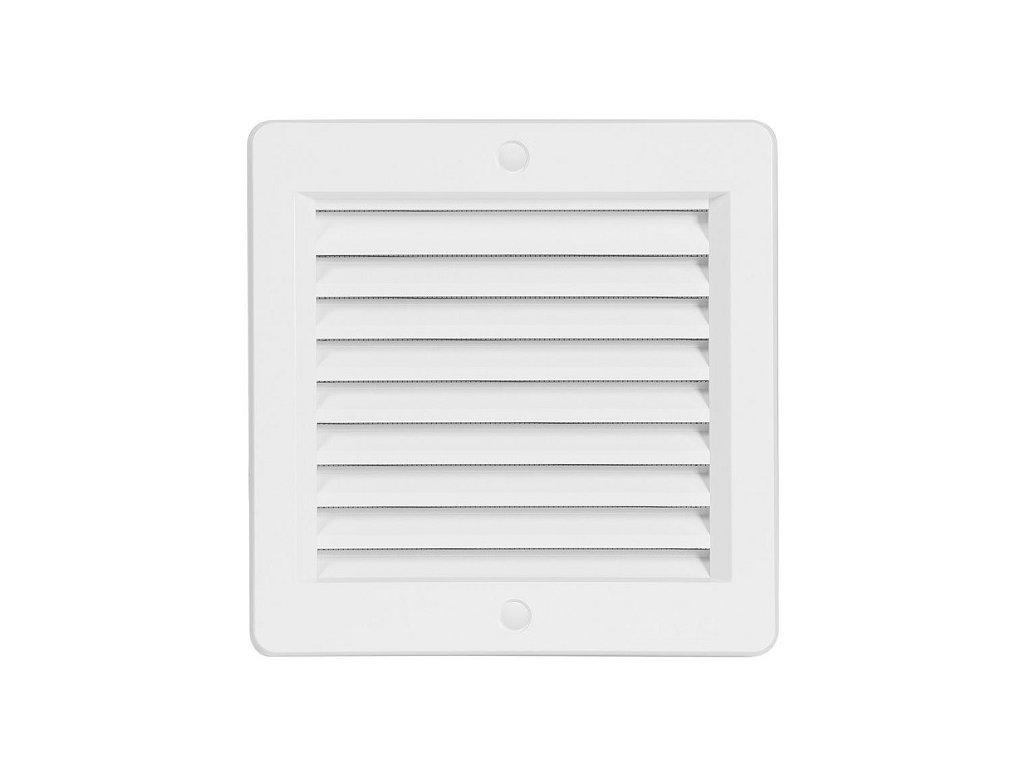 Ventilační mřížka plastová Haco VM 150x150 B bílá s rámečkem