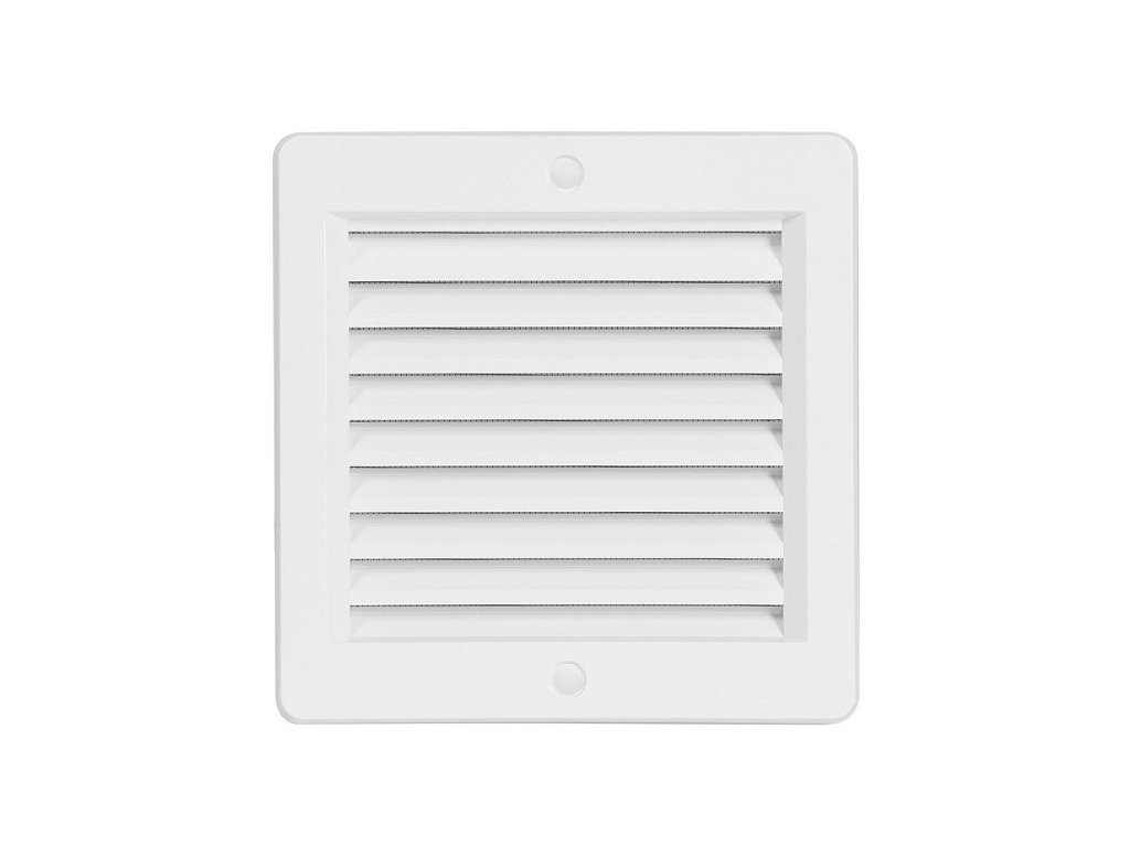 Ventilační mřížka VM 150x150 B bílá s rámečkem