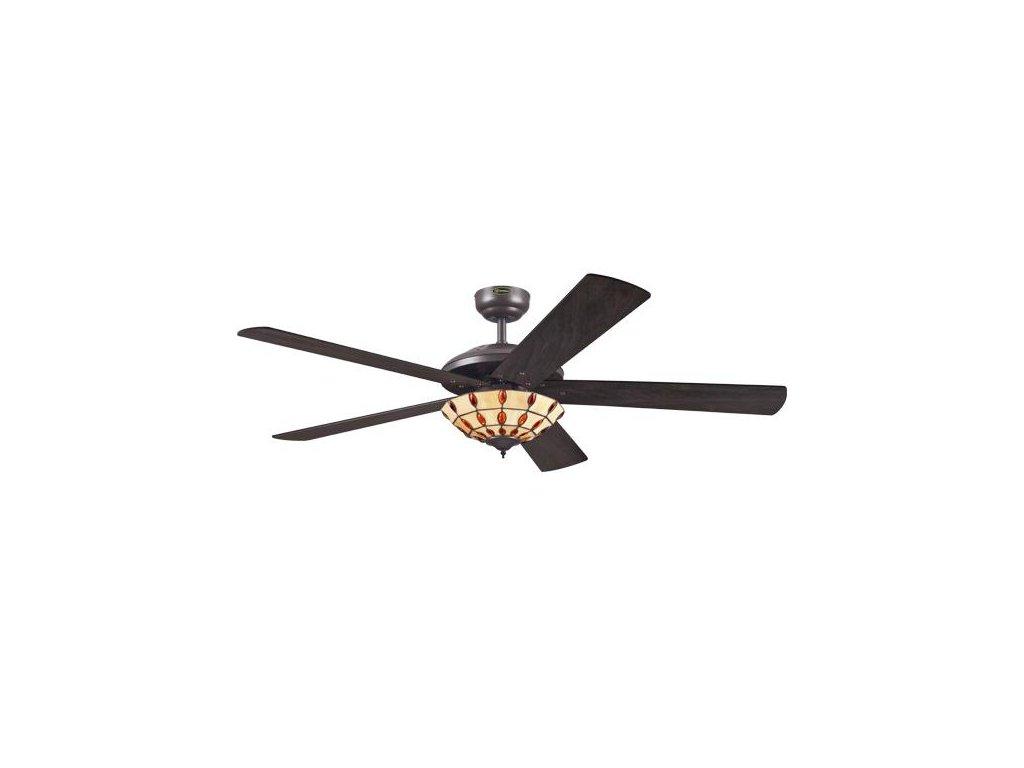 Stropní ventilátor s osvětlením Westinghouse 72485 Comet Tiffany