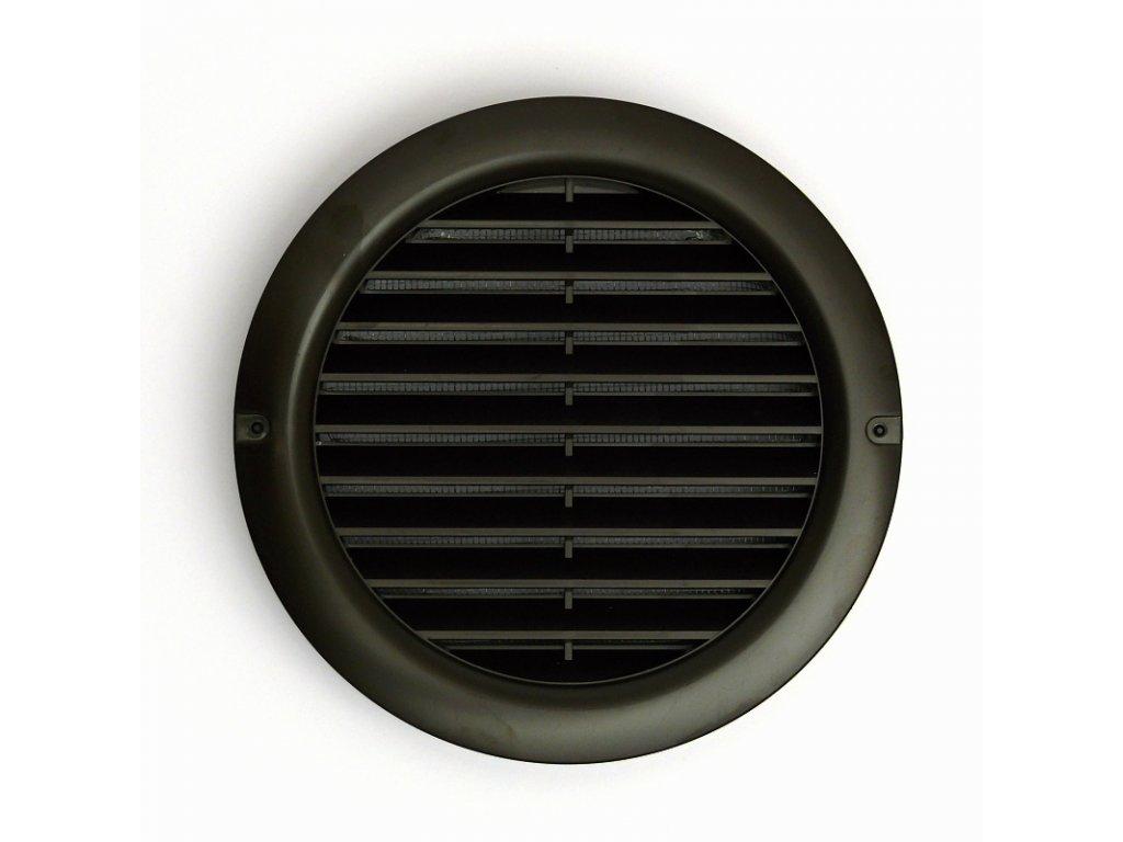 Ventilační mřížka kruhová 150 mm MV 150 bVs hnědá
