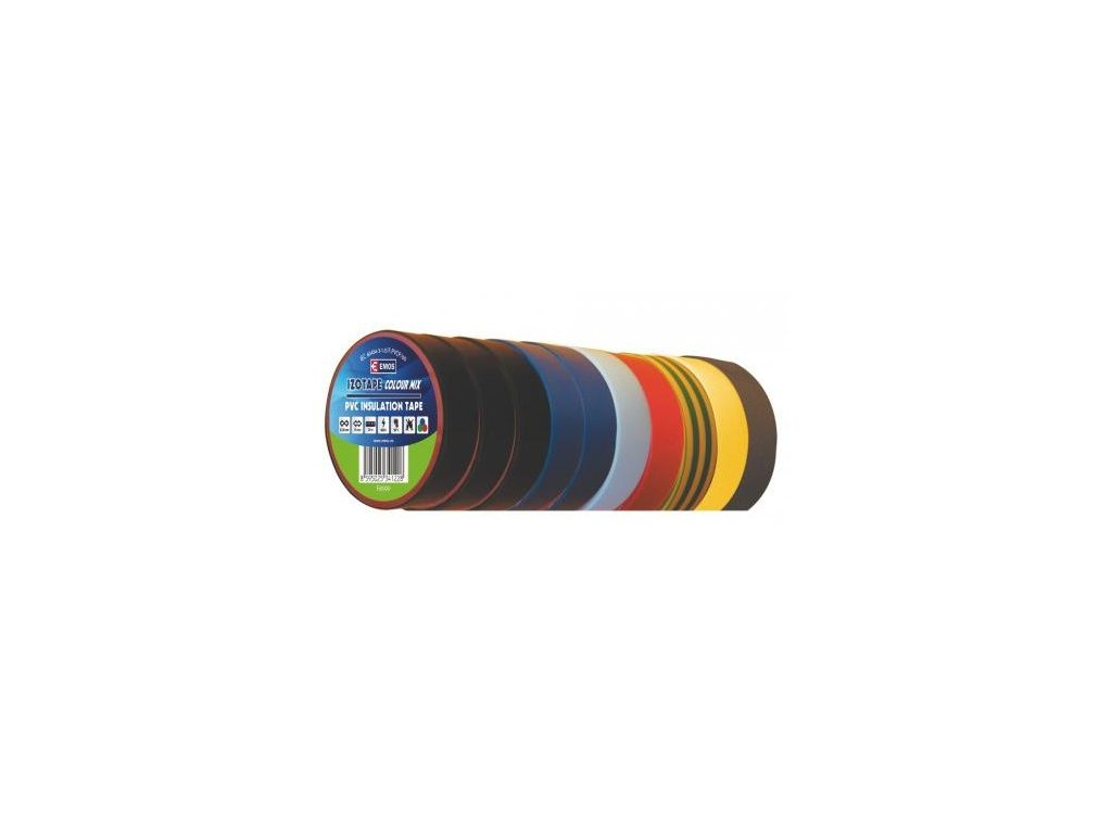Izolační páska PVC 15/10 barevný mix 10ks