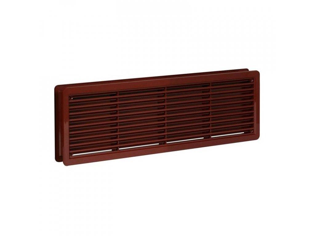 Ventilační mřížka do dveří VM 400x130 DH hnědá /set/