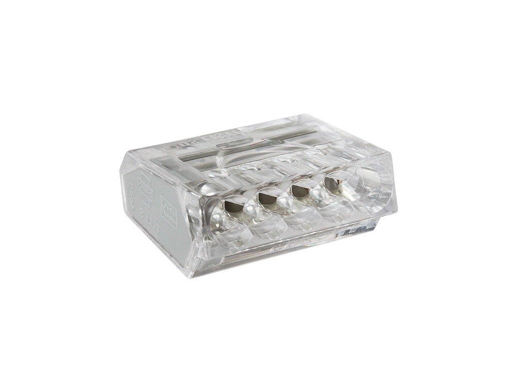 Svorka bezšroubová typu Wago 5 x 2,5 mm2 transparentní