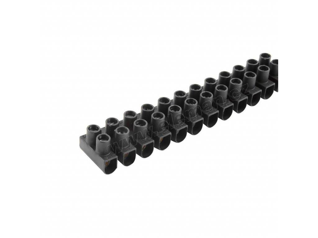 Přístrojová svorkovnice 10.0 mm černá