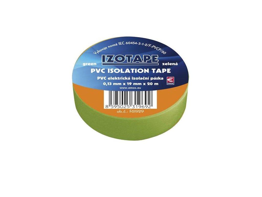 Izolační páska PVC 19/20 zelená