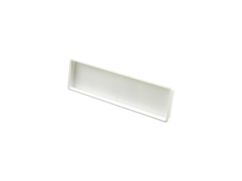 Záslepka pro čtyřhranné potrubí 204 x 60 mm plast
