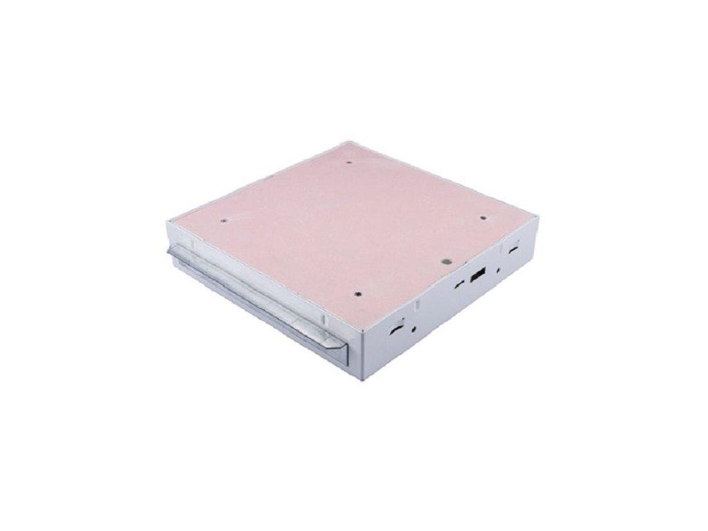 Protipožární revizní dvířka GKF EI45 600 x 600 klička, Stěna