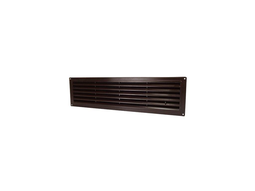 Ventilační mřížka do dveří 462x124 MV450R regulovatelná hnědá