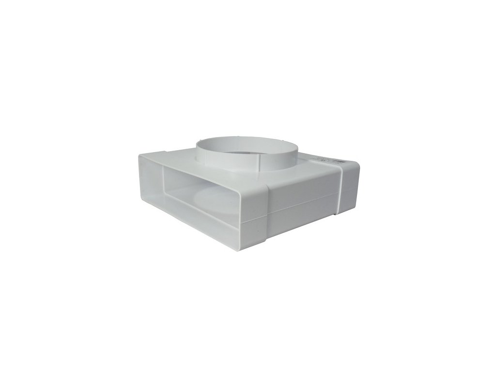 Redukce plochého kanálu 204x60 mm/125mm PVC 632
