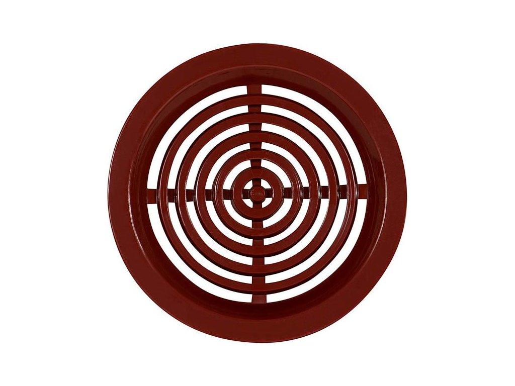 Ventilační mřížka do dveří VM 50 H hnědá /4 kusy/