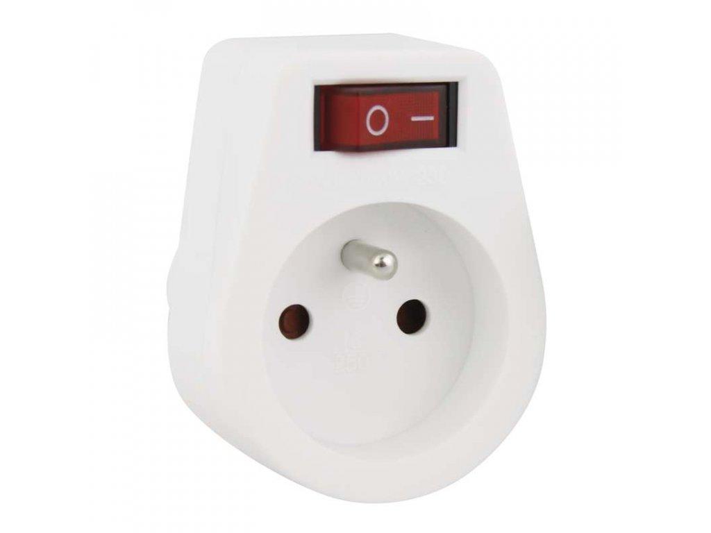 Zásuvka s vypínačem P0027, bílá