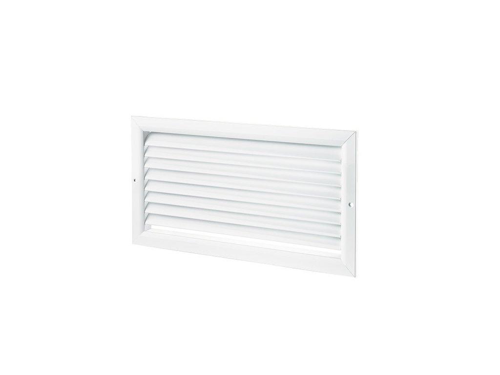 Ventilačníí mřížka WDP 400x100 extrudovaný hliník, bílá