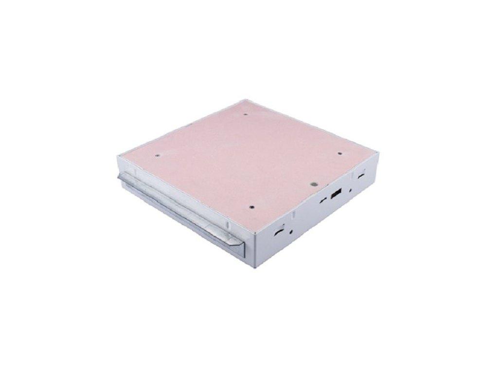 Protipožární revizní dvířka GKF EI60 500 x 500 klička, Stěna