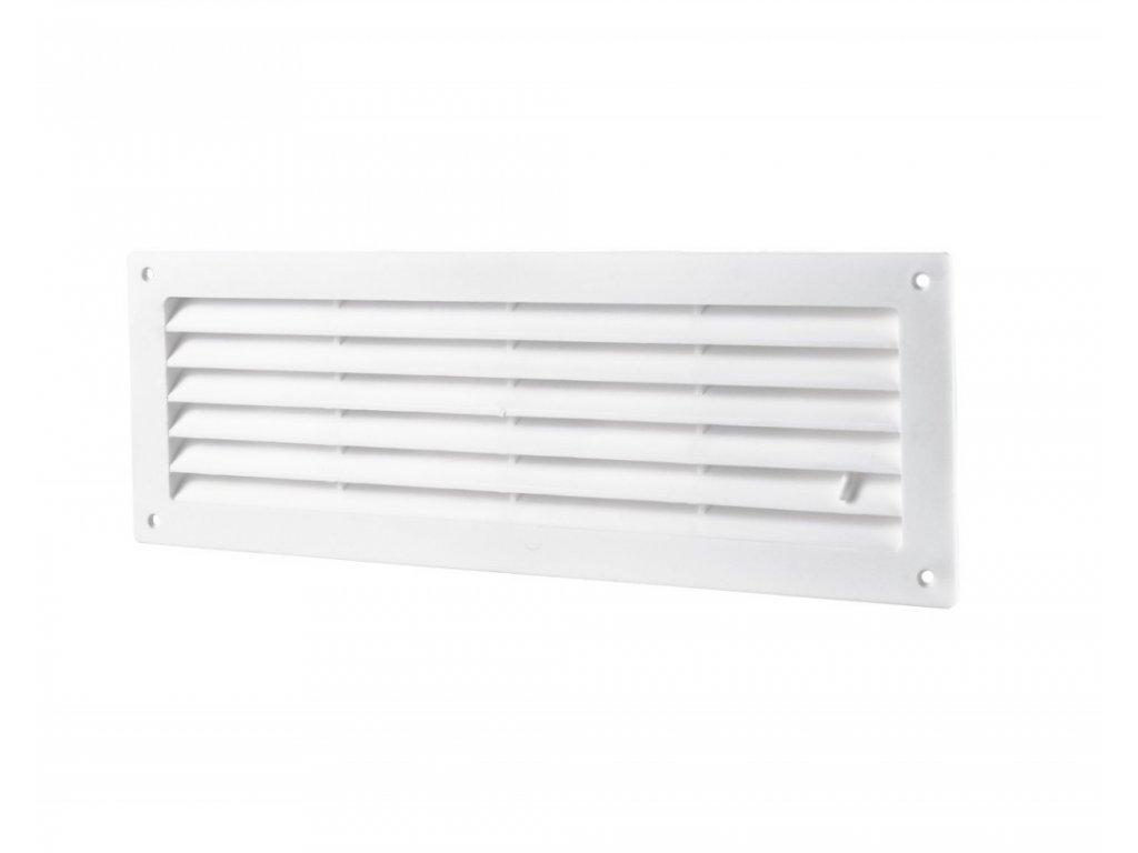 Ventilační mřížka do dveří 368x130 regulovatelná MV350R bílá